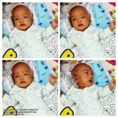 Gambar bayi lelaki bernama Aidan semasa berusia 57 hari