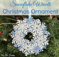 diy paper snowflake wreath ornament