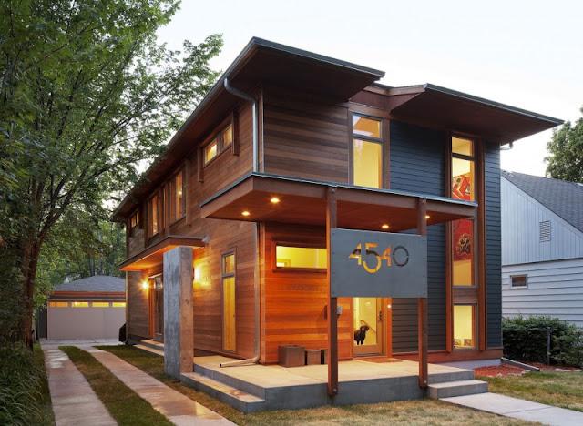 Diseño de Casa con Dos Niveles a base de Madera