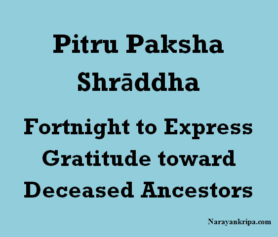 Test Image: Pitru Paksha Shrāddha: Fortnight To Express Gratitude toward Deceased Ancestors