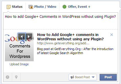 Add Google plus comments in WordPress