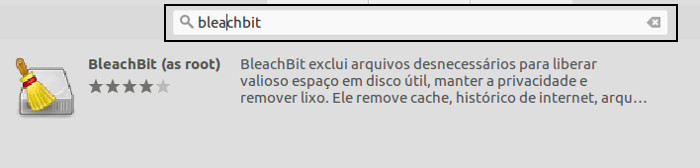 limpar disco no ubuntu com o bleachbit