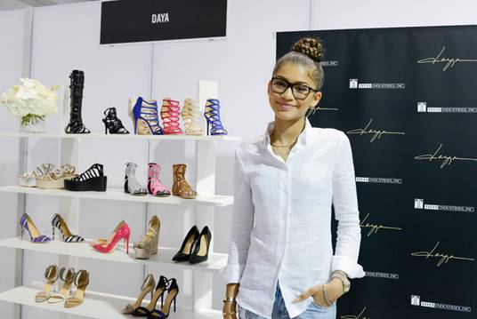Zendaya at FN PLATFORM Showing Daya Shoes