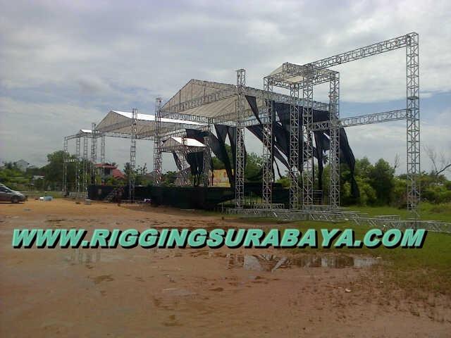 panggung rigging stage kampanye