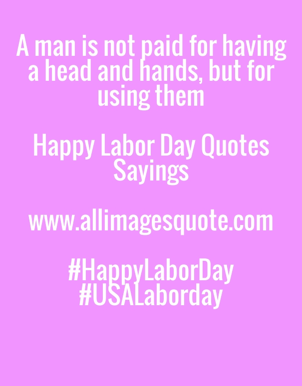USA Labor Day Slogan, Happy Labor day Wishes Quotes