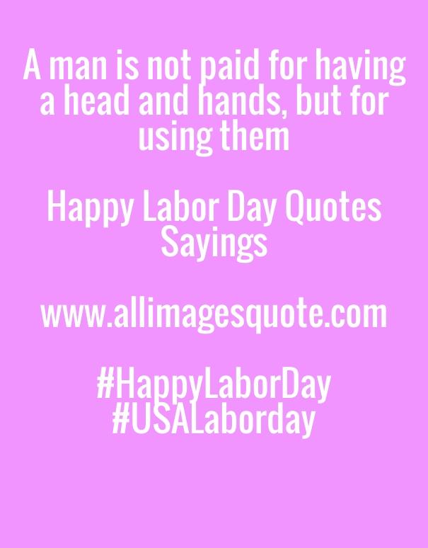USA Labor Day Slogan, Happy Labor day Wishes Quotes