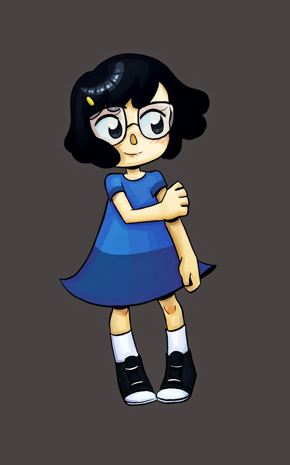 Tina Belcher, Shoujo Tina Belcher, Digital coloring, coloring with the Surface Pro 3, Nattosoup, Becca Hillburn