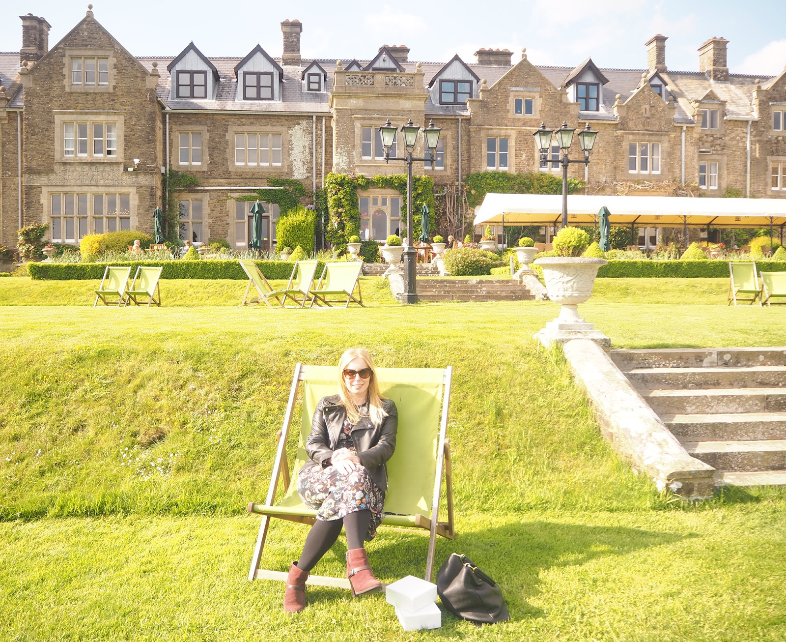 Afternoon tea review at South Lodge in Horsham - deckchairs