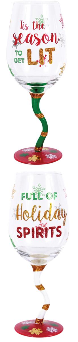 Wayfair DEI Sparkle and Shine Wine Glass Set