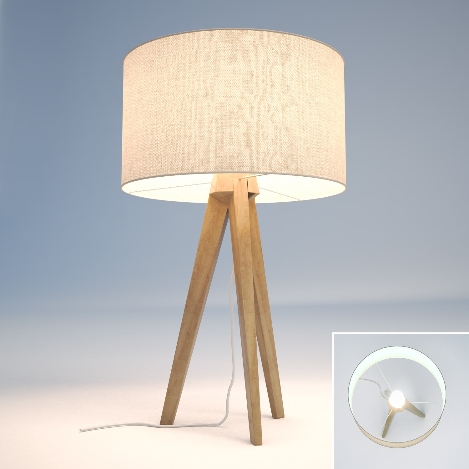 Wall Lamps 3d Model Free : 3D Model Free: [3D Model Free] Table lamp