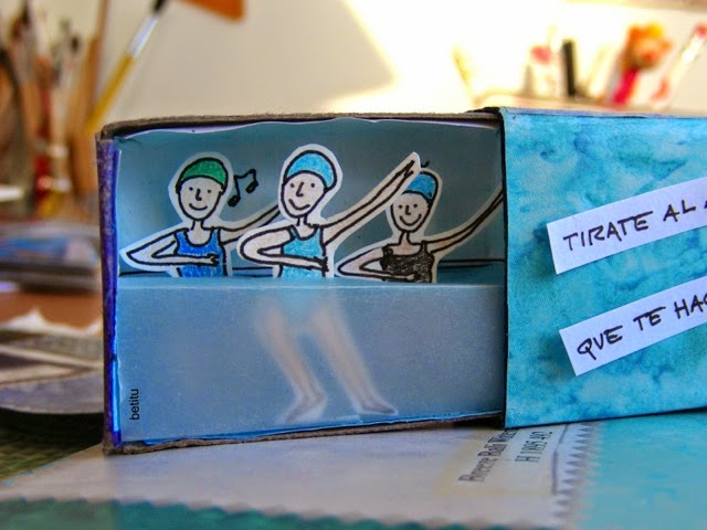 water aerobics inside a matchbox - by betitu