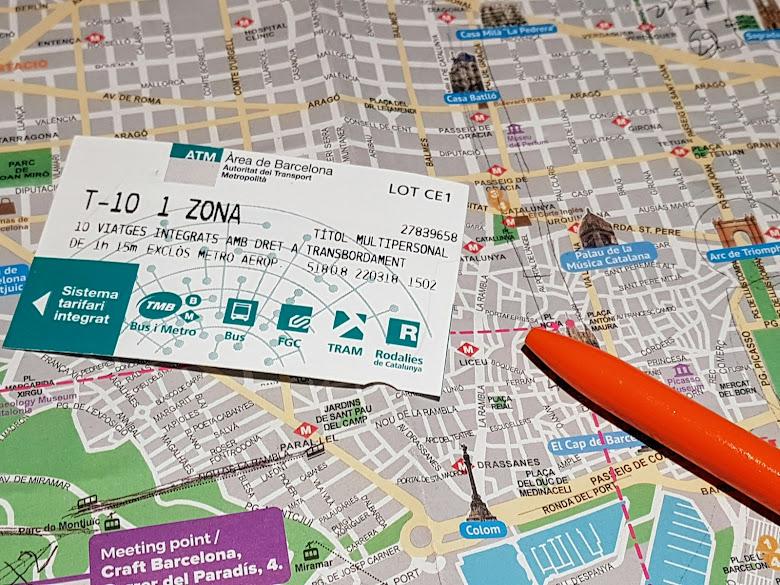 研究巴塞隆納景點與交通十次券