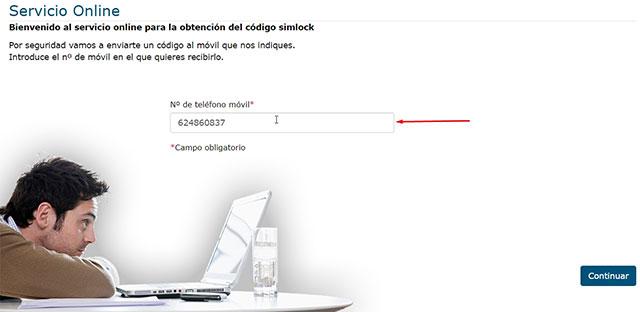 obtener el código simlock para teléfonos Movistar
