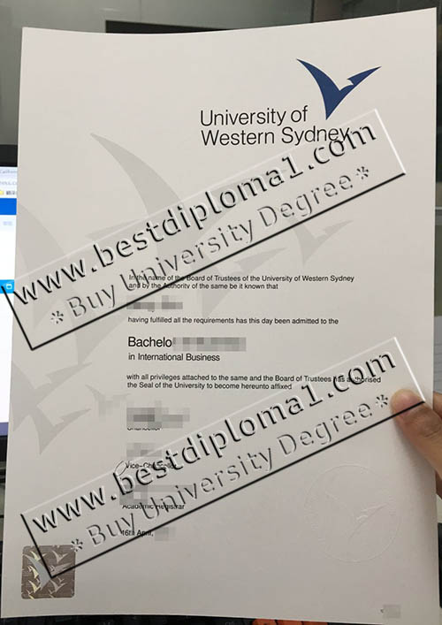 University of Western Sydney diploma