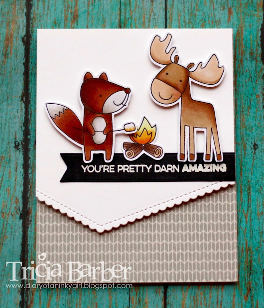 My Favorite Things - Warm & Fuzzy Friends - Casing a Card