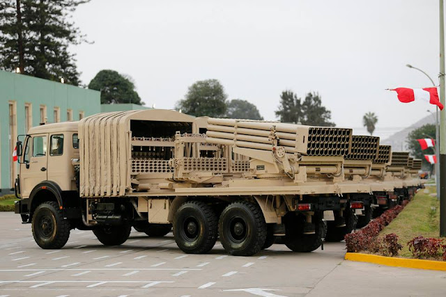 Image Attribute: In July 2015, Peruvian Army acquired 27 Chinese Type 90B 122mm Rocket System to replace its BM-21.