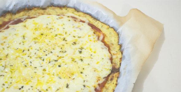 pizza de couve flor