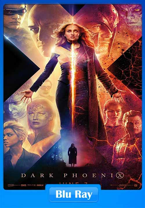 X-Men Dark Phoenix 2019 Hindi BluRay 720p English ESub | 480p 300MB | 100MB HEVC Poster
