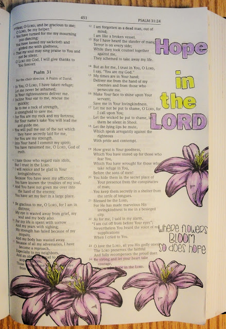 hope in the lord ~ psalms 31 ~