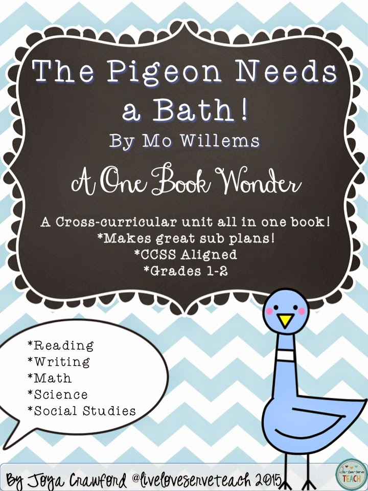 https://www.teacherspayteachers.com/Product/The-Pigeon-Needs-a-Bath-Complete-SubPlan-Thematic-Unit-for-Grades-1-2-CCSS-1769635