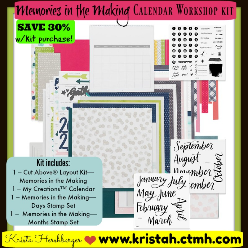 Celebrate National Stamping Month with CTMH! :) Pre-cut, Pre-printed Calendar Workshop Kit!