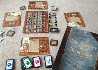 The Scepter of Zavandor game in play