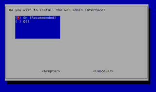 ¿Deseamos instalar el interface de administración web?