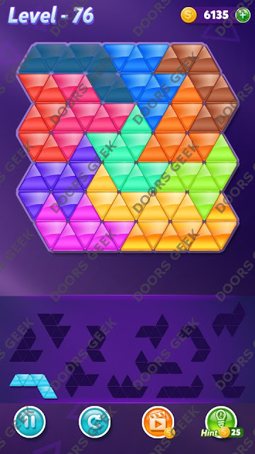 Block! Triangle Puzzle Grandmaster Level 76 Solution, Cheats, Walkthrough for Android, iPhone, iPad and iPod