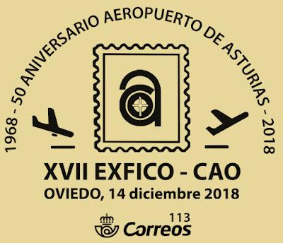 Matasellos de la exposición de coleccionismo del Centro Asturiano, 2018