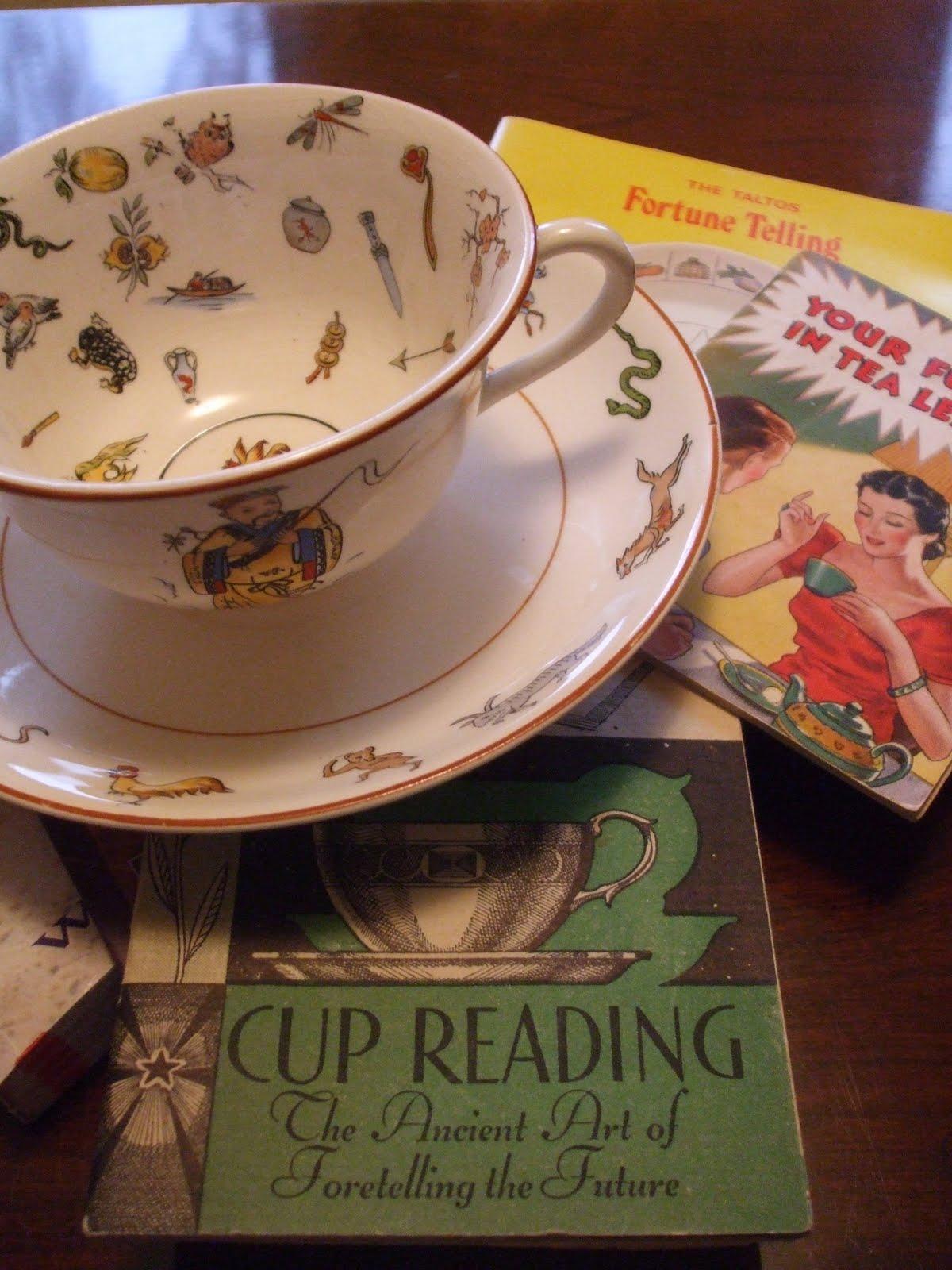 Rosemarys Sampler Tea Cup Thursday Tea Leaf Reading