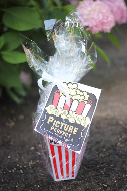End of Year Gift- Movie Gift Basket: Movie Ticket, Popcorn, Dinner Gift Card