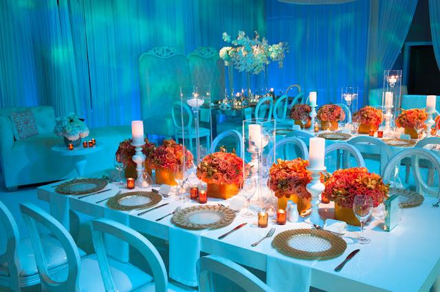 Orange Colors And Fall Blue Royal Wedding