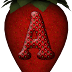 Abecedario con Fresas. Alphabet in Strawberries.