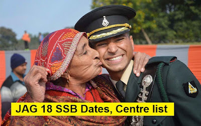 JAG 18 SSB Dates, Centre Allotment and Merit list