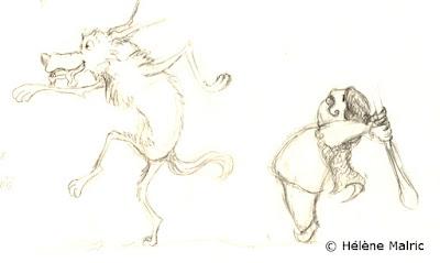 Illustration loup furtif  recherche de personnage character design