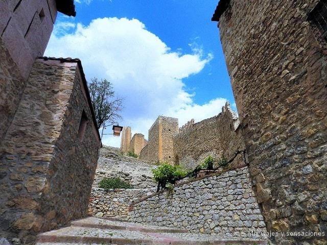 Subida a las murallas y Torre del Andador, Albarracín, Aragón, Teruel
