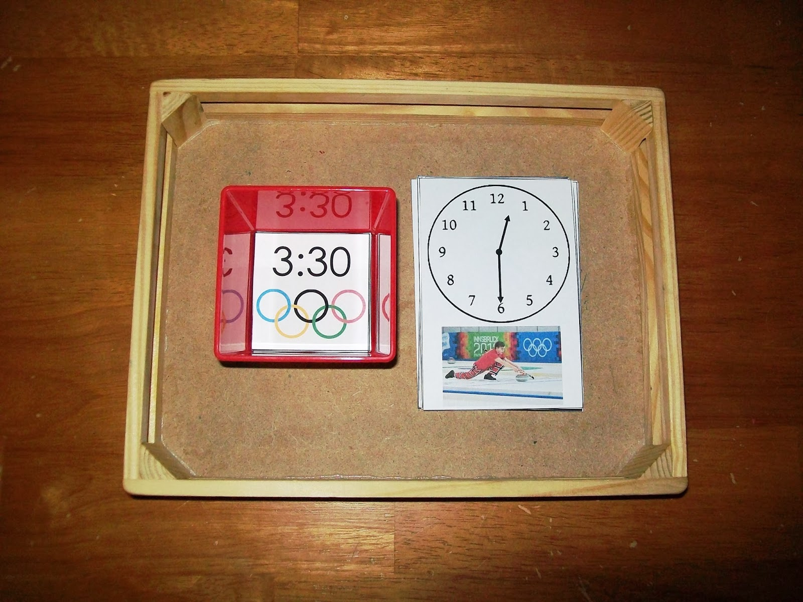 FREE Winte Olympics Telling Time Matching Activity