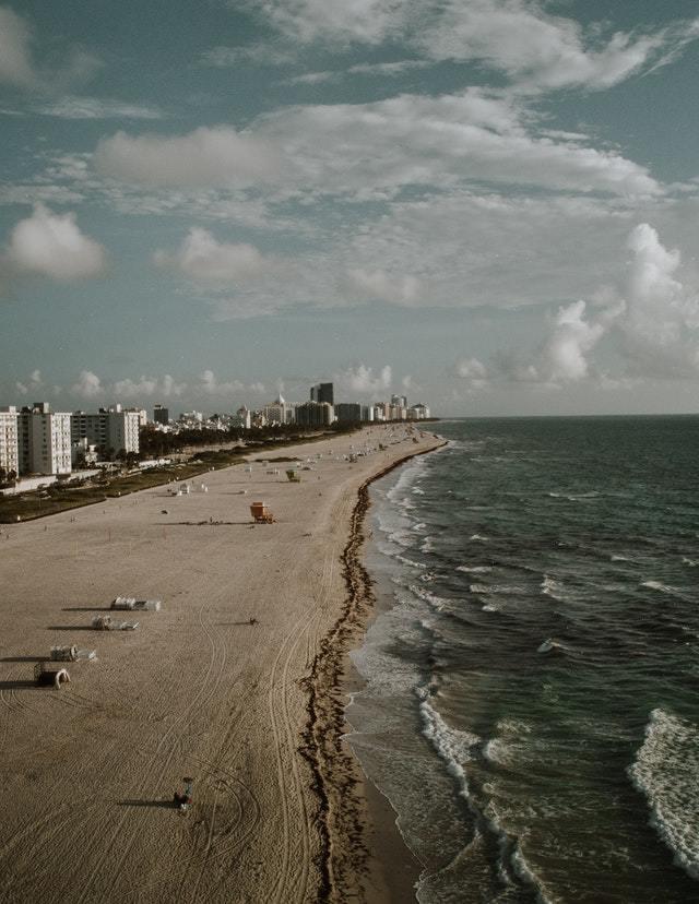 Beautiful beach in Florida