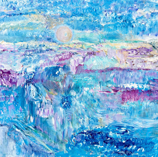 Moon on the Water Original Painting by Amy Drago