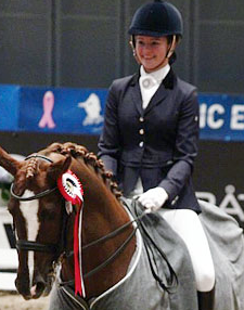 Alexandra Andreson during a horse competition