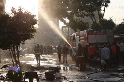 حريق وكالة البلح, وسط البلد,