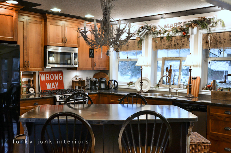 Christmas In The Kitchen Via Funky Junk Interiors   Home Tour 2012