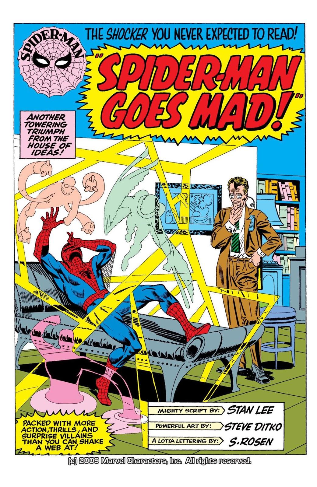 The Dork Review: Rob's Room: Steve Ditko's Spider-Man Splash Pages