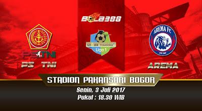 Situs Agen Bola Terlengkap - Prediksi Pertandingan Liga 1 Indonesia, PS TNI vs Arema 3 Juli 2017