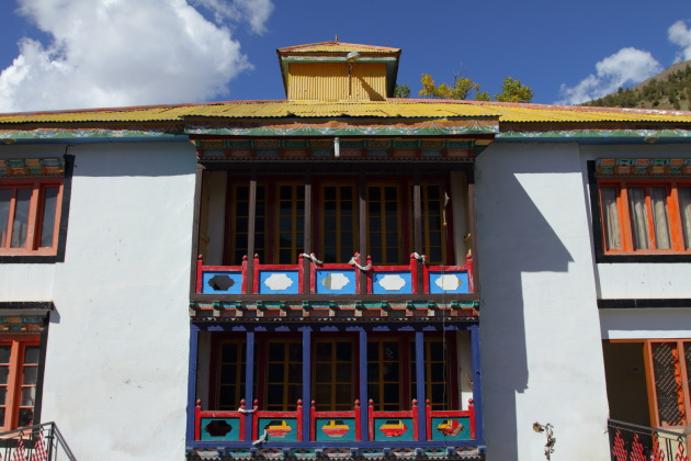 Rich colors on Shashur Gompa - the oldest monastery in Keylong