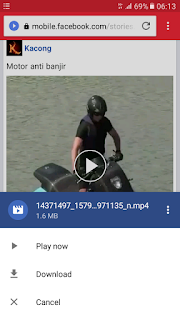 cara mudah download video di Facebook Android tanpa aplikasi