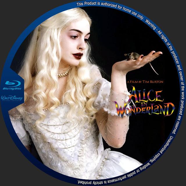 Alice In Wonderland Bluray Label