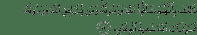 Surat Al Anfal Ayat 13