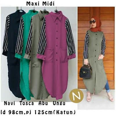 Jual Atasan Maxi Midi Dress Amelia - 12271