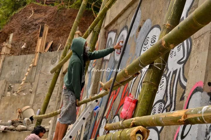 Tamawan Village Making of a Graffitti Mural Baguio City Philippines 24